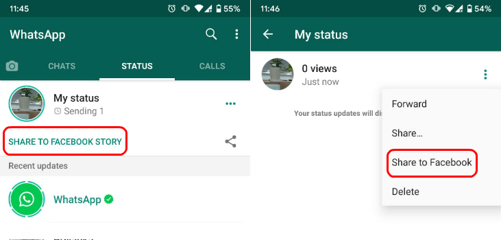 You Can Now Share Whatsapp Status Directly On Facebook