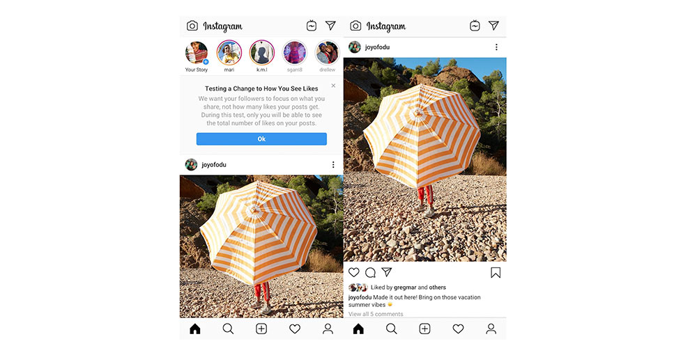 Instagram running test to hide likes on photos - XiteTech